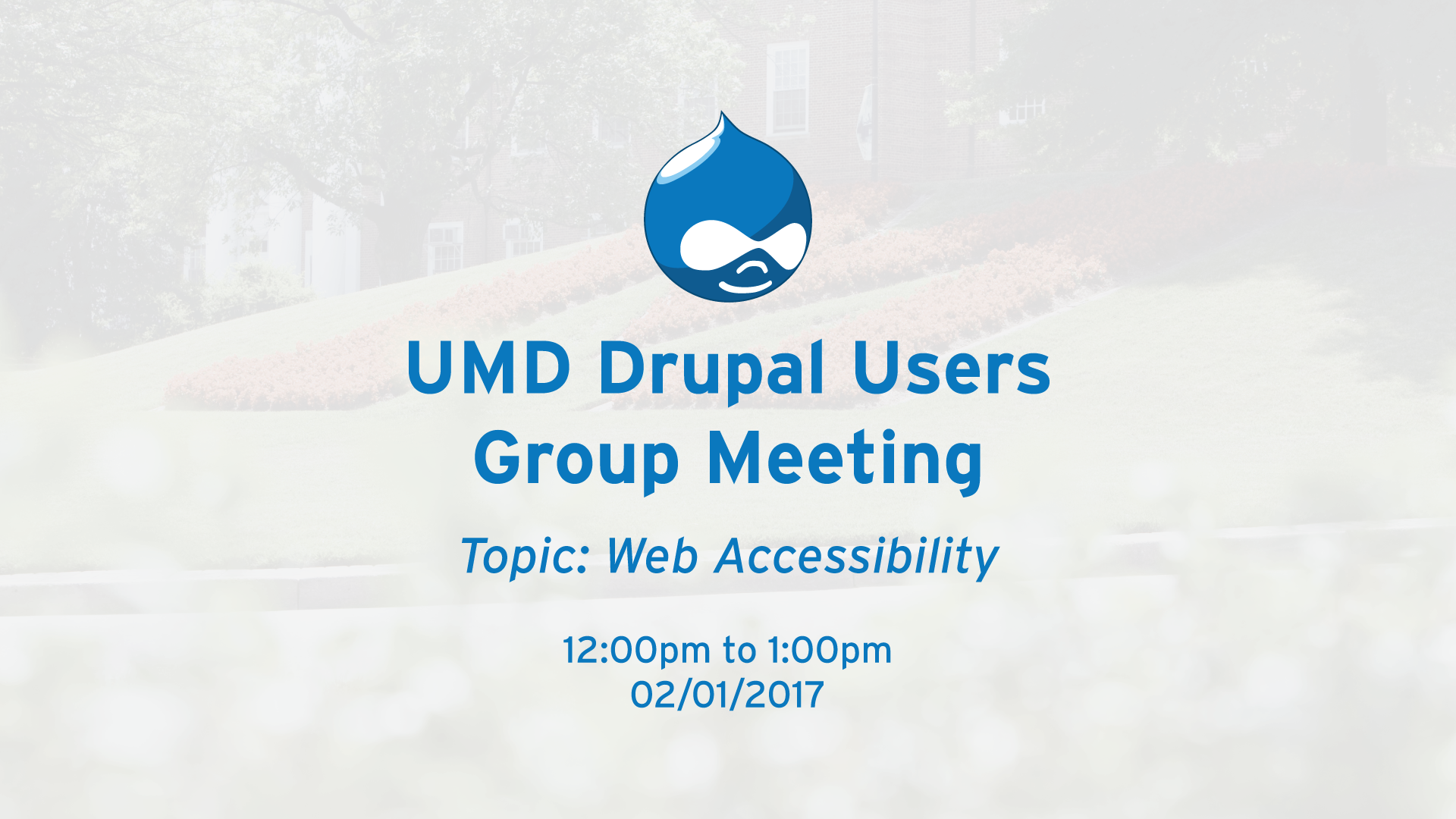 DUG Feb Meeting - Accessibility