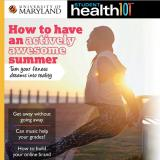 A woman stretches on the cover of the Student Health 101 June issue