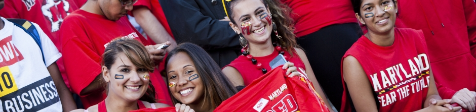 4 Women students dress up and made up for the game