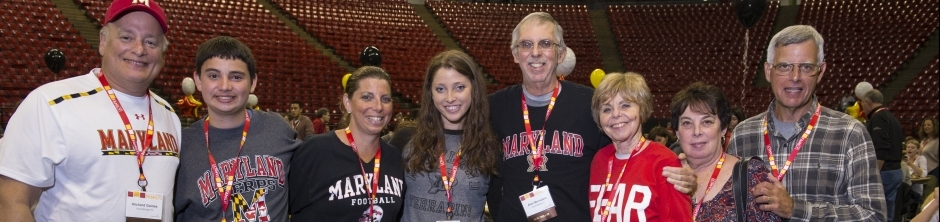 Several parents with students at Maryland basketball game