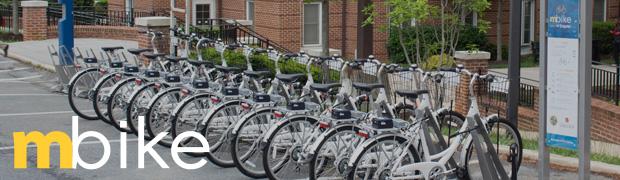 Bikes placed in bike rack